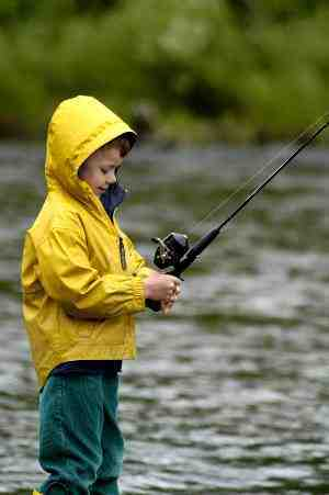Kid fishing for Kmart fishing license