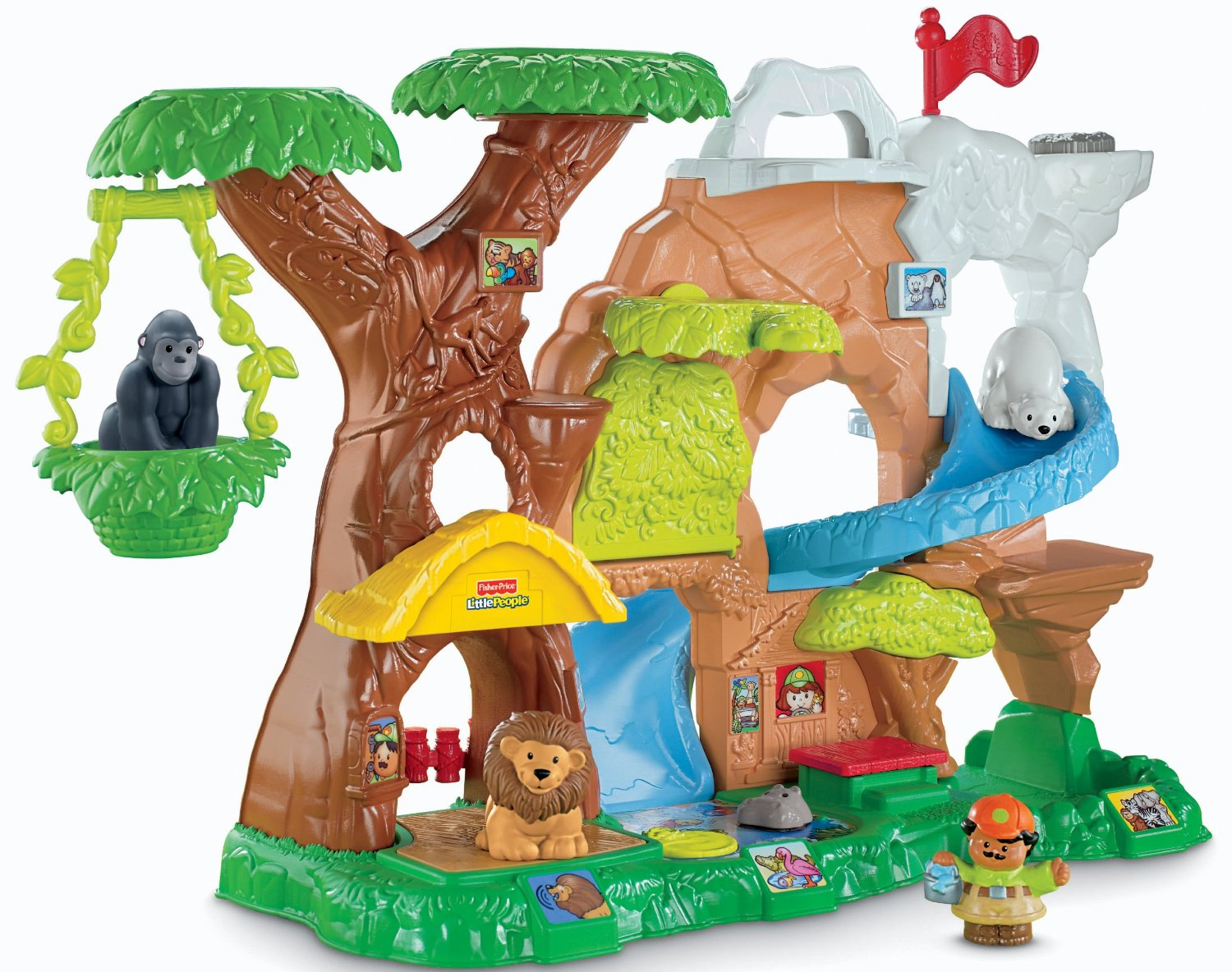 Fisher-Price Little People Zoo Talkers Animal Sounds Zoo ...