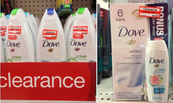 Dove Body Wash $1 off Coupon + Target Clearance Sale