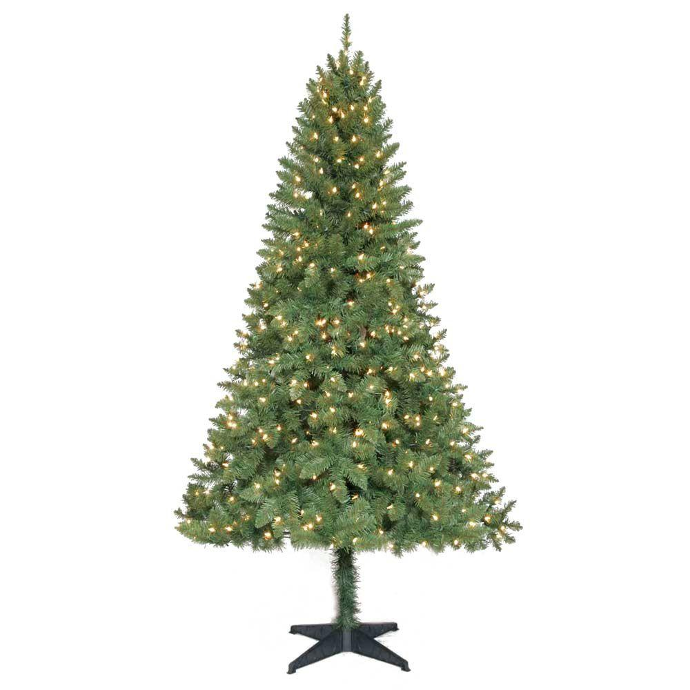 6.5 ft. Pre-Lit Verde Pine Tree with Clear Lights Only $13 ...