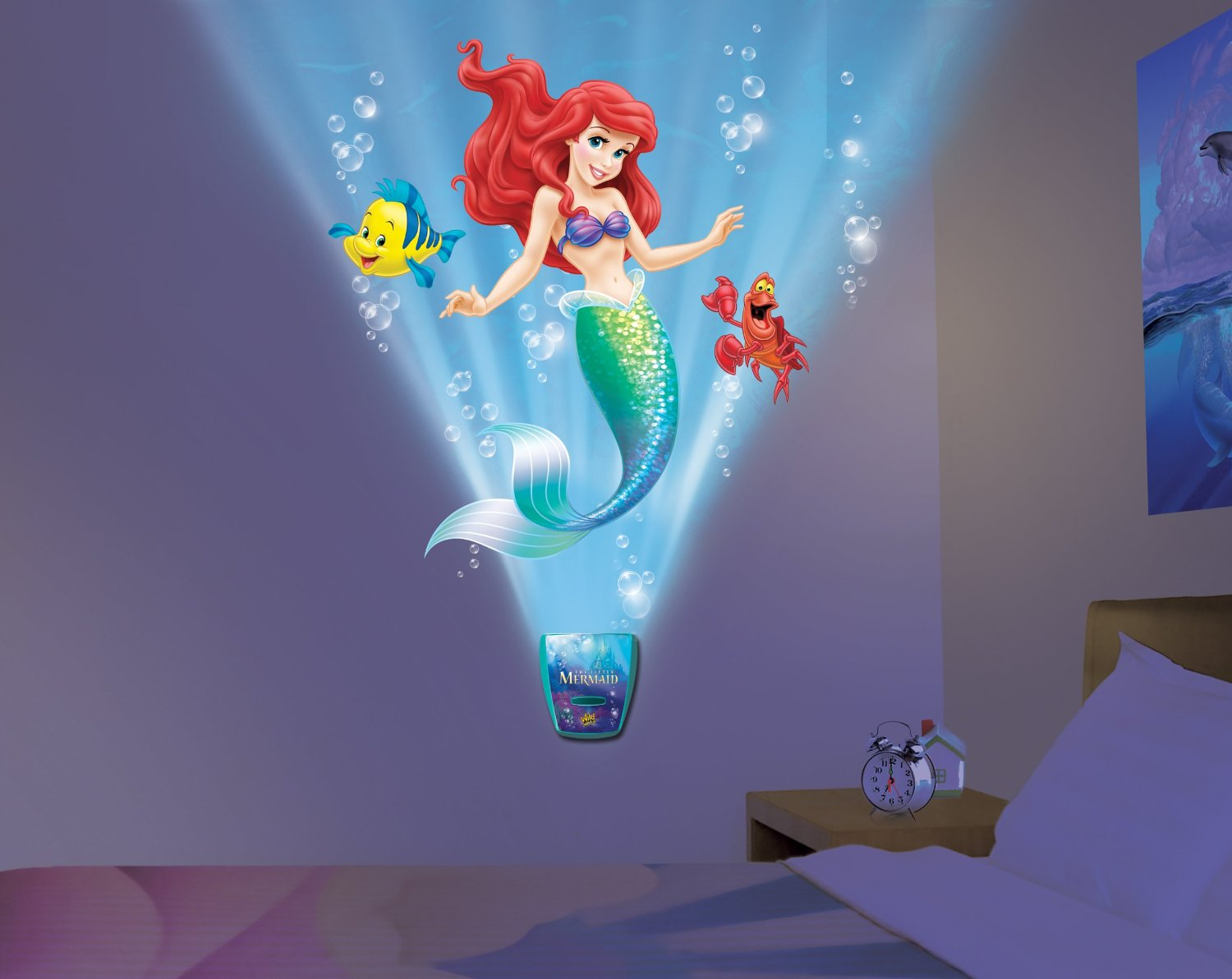 Uncle Milton Wild Walls Little Mermaid Light And Sound