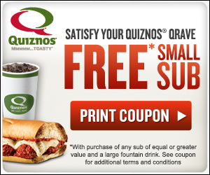 Free quiznos coupons printable