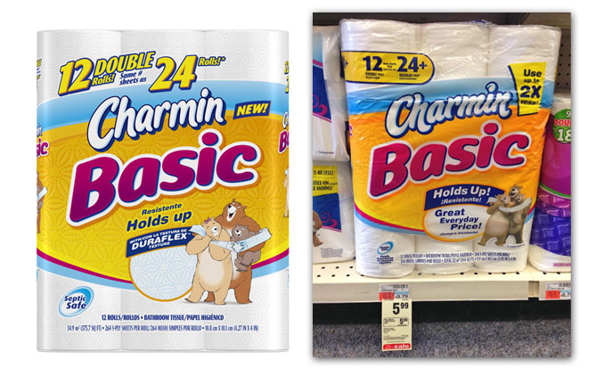 graphic relating to Charmin Printable Coupon called Charmin Simple $4.49 for 12pk Double Rolls at CVS with Sale