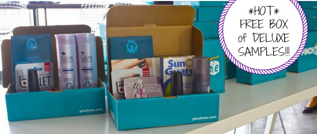 FREE samples, free box full of deluxe samples, pinchme samples, pinchme