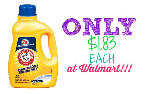arm & Hammer laundry detergent, arm & hammer coupon, walmart arm & hammer deal, arm & hammer detergent