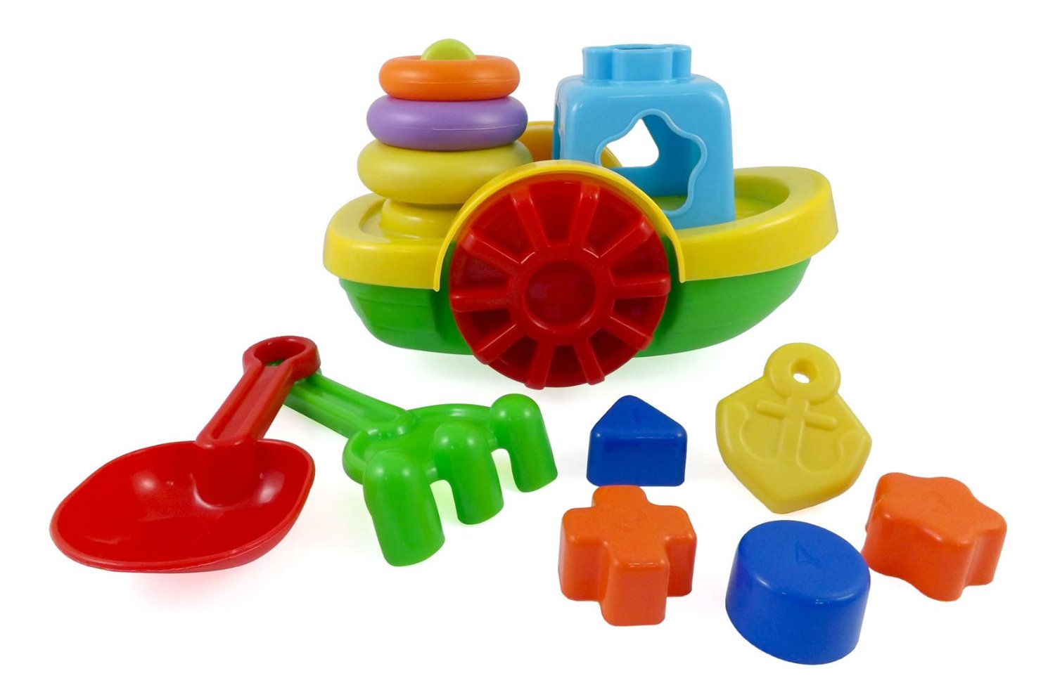 Tugboat Sand Wheels Beach Toy Set only $5.95 (reg $14.95)
