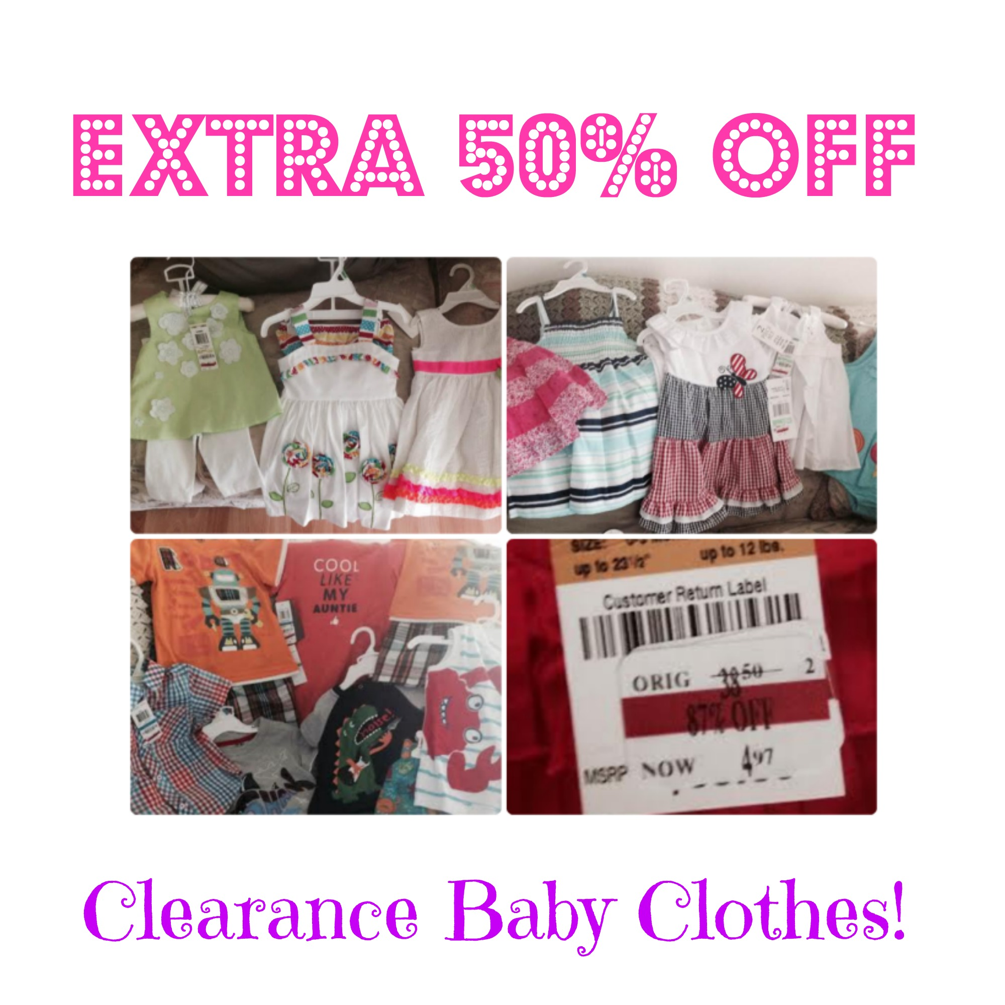 27ad911a8868 HOT! Extra 50% Off Clearance Baby Clothing at Macy s!