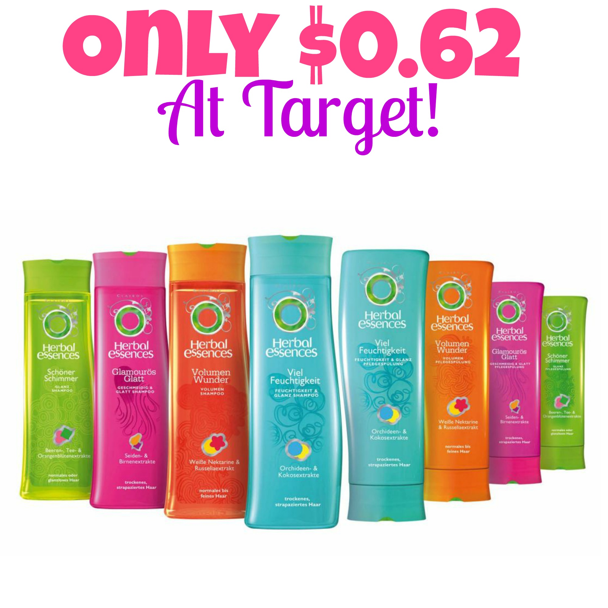 conditioner, hair care coupons, Hot Target Deals, HOT! Herbal Essences Only $0.62 At Target! (Starts 9/21), Shampoo, Stock up Prices at Target