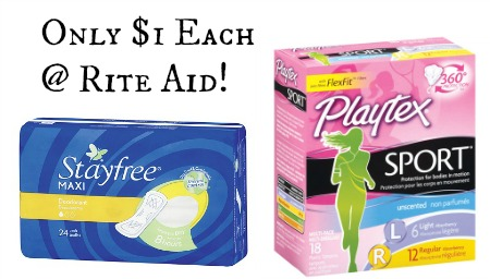 Stayfree Pads, playtex tampons, rite aid deals, rite aid playtex deal, rite aid stayfree deal, playtex coupons, stayfree coupons