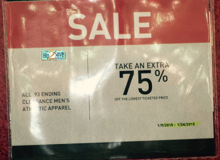 Dick's Sporting Goods, retail deals, retail sales, dick's, 75% off clearance, clearance, the north face, adidas, under armour