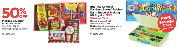 Michael's Daily Deals, michaels deals, Melissa & Doug, Free storage case with rainbow loom purchase, free storage case michaels, michaels coupons