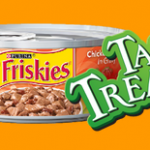 Free Friskies Tasty Treasures Accented w/Real Bacon, friskies coupon, cat food coupon