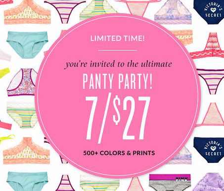 d1635ab9599e Victoria's Secret: 7 Panties for $27 + Free Secret Reward Card ...