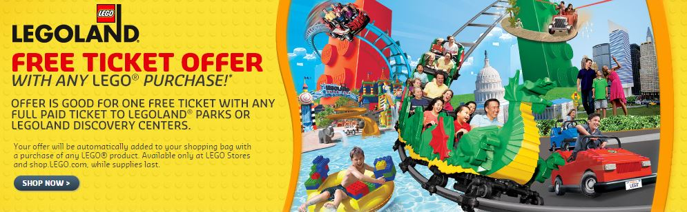 image relating to Legoland Printable Coupons called BOGO Totally free LEGOLAND Ticket Voucher