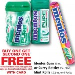 Mentos Mints Spearmint Rolls only $0.33 at Rite Aid!