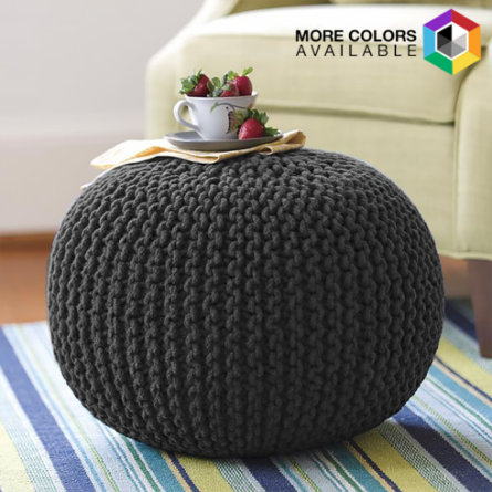 Cotton Craft Hand Knitted Pouf Ottoman Only 4040 Reg 4040 Inspiration Knitted Poufs Ottomans