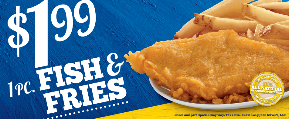 Long john silvers fish fries combo only for Long john silver s fish and chips