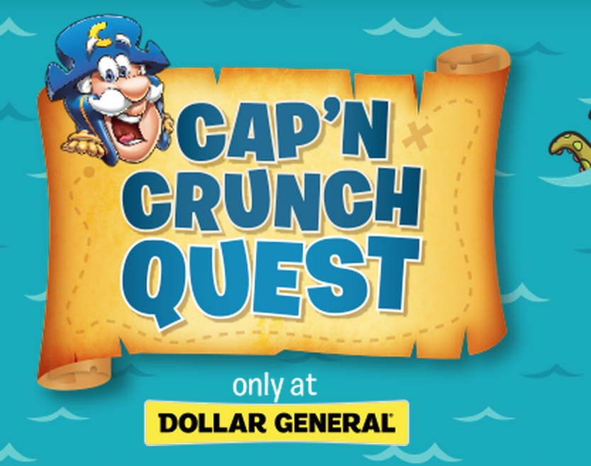 Quaker Oats- Cap'n Crunch Quest Instant Win Sweepstakes: Win a