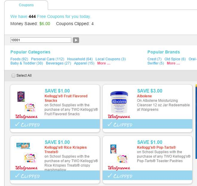 photo about School Supplies Printable Coupons known as 4 Concealed Walgreens Printable Coupon codes