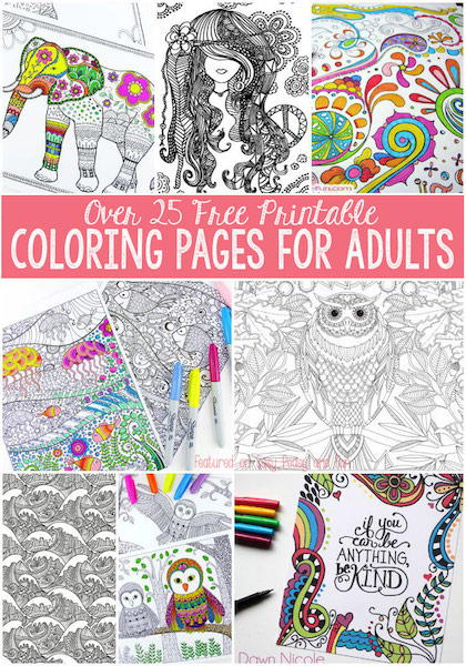 Coloring Books For Adults Kmart : Free coloring pages for teens and adults