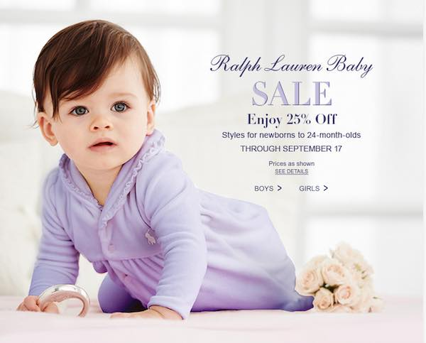 save 25 off baby clothes and accessories at ralph lauren. Black Bedroom Furniture Sets. Home Design Ideas