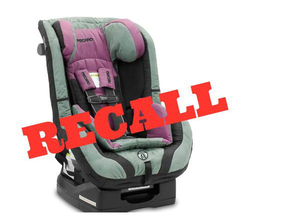 Car Seat Recall Recaro ProRide Performance Ride Seats