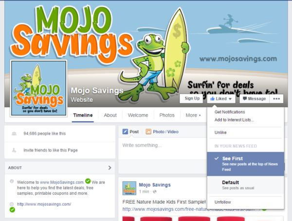 MojoSavings Facebook See First600