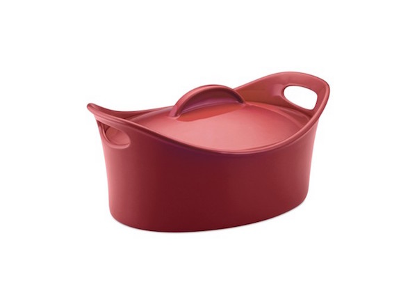 Rachael Ray Stoneware 4.25 Qt. Covered Casseroval Baking Dish