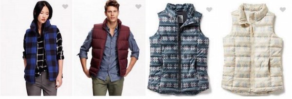 Frost-Free Vests At Old Navy