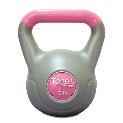 Tone Fitness 5 -Pounds Cement Filled Kettlebell