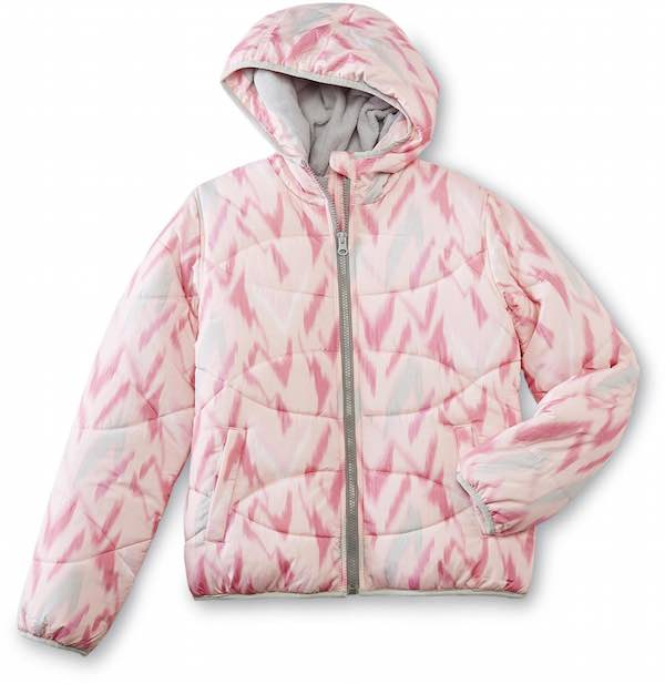 Canyon River Blues Girl's Hooded Bubble Jacket