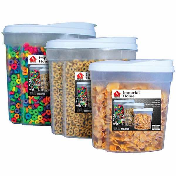 Imerpial 3pc Cereal Storage