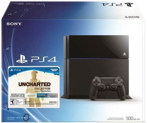 playstation 4 500gb bundle with uncharted voucher only. Black Bedroom Furniture Sets. Home Design Ideas