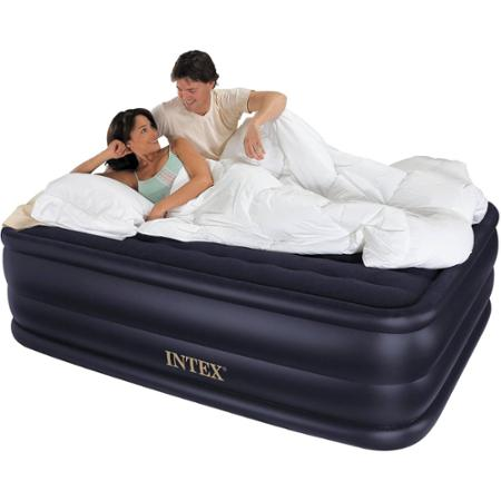Intex Queen  Rising Comfort Airbed Mattress with Built-In Electric Pump