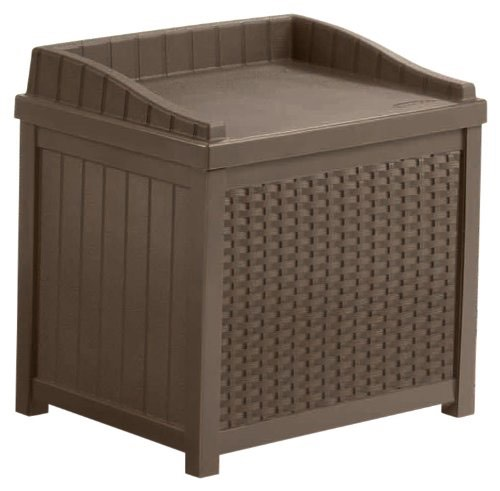 Suncast Resin Wicker 22-Gallon Storage Seat