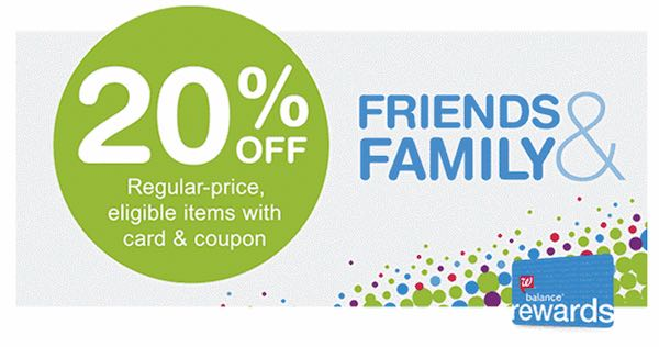 Walgreens Friends and Family Day