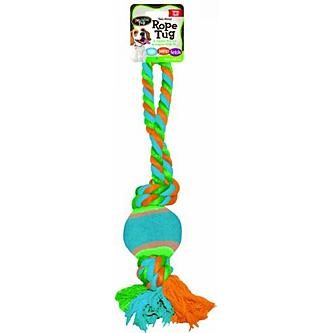 Bow Wow Rope Tug With Tennis Ball