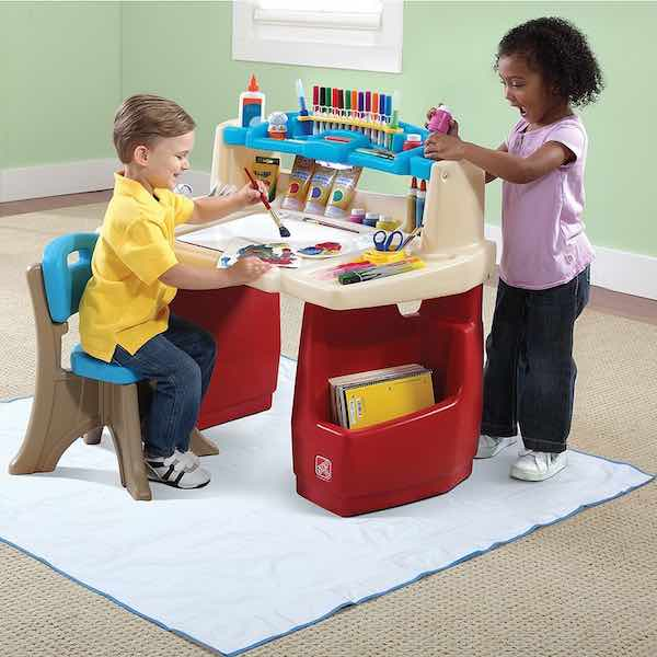Get This Step2 Deluxe Art Desk With Splat Mat For Only 41 99 Shipped Normally Cardholders Use Promo Codes Pencil30 To 30 Off And Code