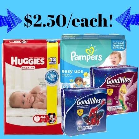Free printable pampers easy ups coupons