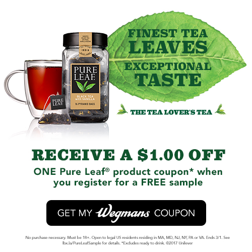 photograph relating to Wegmans Printable Coupon called Tea Drinkers! Just take A Cost-free Pattern of Black Tea w/ Vanilla +