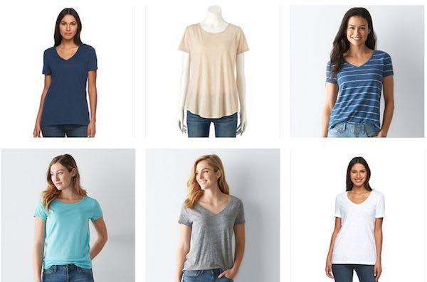 4193b3a4e20a6 Save on Tees & Tops at Kohl's! Shop Women's SONOMA Goods for Life Short  Sleeve Tops & Tees from just $7.99! Normally as much as $16.00!