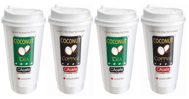 CAcafes Coconut Coffee and Coconut Tea