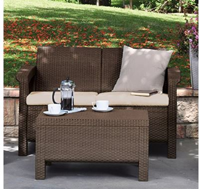 Love Seat All Weather Outdoor Patio Garden Furniture Only Reg 200 Shipped