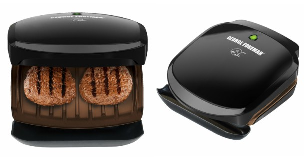 George Foreman Non-Stick 2 Serving Classic-Plate Grill and Panini Press