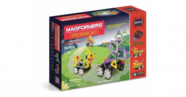 Magformers Vehicle Zoo Racing Set