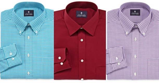 Stafford Mens Long Sleeve Dress Shirts