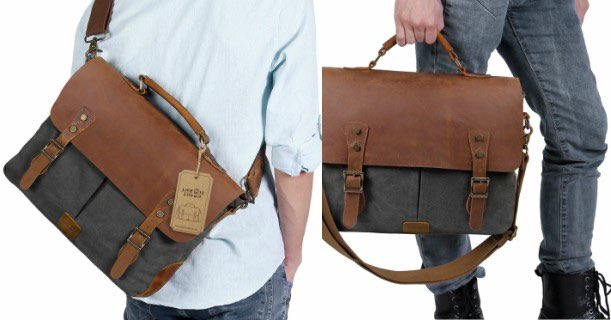 Upgrade Your Everyday Carry Essentials Check Out This Great Messenger Bag Get A Genuine Leather Vintage 15 6 Laptop