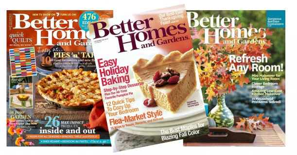 Free Subscription To Better Homes Gardens Magazine And