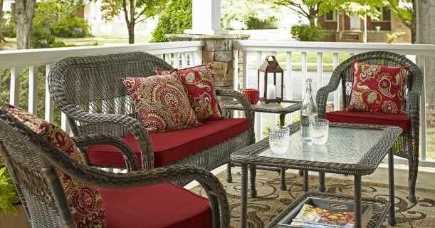 Score A Severson Wicker Patio Loveseat ONLY $55 00 Normally $98