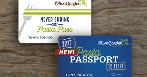 run never ending pasta passes go on sale today